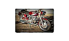 1966 Ducati Mach1 Bike Motorcycle A4 Retro Metal Sign Aluminium