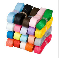 "100YDs Mixed 3/8"" 9mm Grosgrain Ribbon 4 Hairbow BOW Craft 20 Colors Lot 100 Yds"