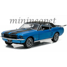 GREENLIGHT 12965 1967 67 FORD MUSTANG COUPE with SKI COUNTRY SPECIAL 1/18 BLUE