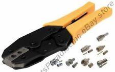 Ratchet BNC RG59 coax,N,RCA,TNC,UHF,SMA Crimper/Crimping Tool w/Pin Crimp spot{Y