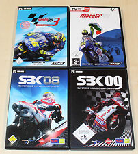 4 pc jeux collection-Moto GP 3 07 sbk 08 09 courses motocyclistes super bike racing