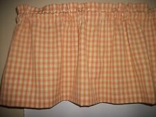 Mustard Yellow Plaid Homespun Checks fabric Kitchen curtain topper Valance
