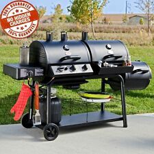 Smoker Gas Charcoal Grill Combo Combination BBQ Outdoor 50 000 BTU 4 Burners