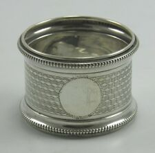 Antique .925 sterling silver serviette napkin ring Birmingham 1910