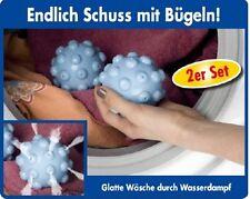 2 St.Trocknerbälle m. Wasserdampf Wäscheball Anti-Knitter Wäschekugel Trockner