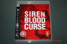 Siren Blood Curse PS3 Playstation 3 **FREE UK POSTAGE**