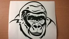 LARGE fun gorilla ape vinyl graphic boy bedroom wall art car bonnet side sticker