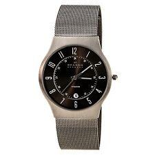 Skagen 233XLTTM Men's Denmark Grey Dial Titanium Mesh Bracelet Quartz Date Watch