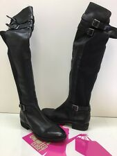 Sam Edelman Portland Womens Black Leather Over The Knee Riding Boots Size 8M