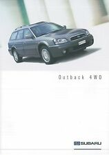 2003 SUBARU OUTBACK 4WD 2.5 - 3.0 PROSPEKT BROCHURE CATALOGUE DEUTSCH