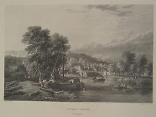 Carrow Bridge Norwich Norfolk England Antique Steel Engraving 1887