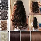 "24"" Full Head 8 Weft Clip In Hair Extensions Sexy Synthetic Women gift all color"