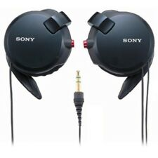 New SONY Clip-on Stereo Headphones With Double Retractable Cord MDR-Q68LW Black