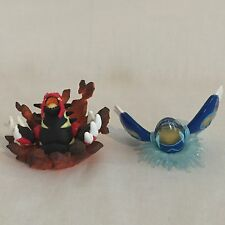 Very Rare JAPAN mini figure pokemon Kyogre Groudon nintendo pocket monster