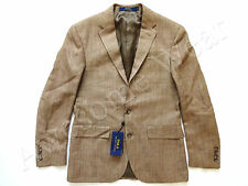 New Ralph Lauren Polo Silk & Flax Beige Sport Coat Jacket Custom Fit sz 40 Reg