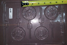 "US Army Emblem Lollipop Chocolate Candy Mold 4 Cavities LOP J-98 2.5"" diameter"