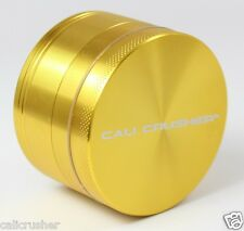 Cali Crusher Herb, Tobacco and Spice Grinder 2.5 Inch 4 Piece Aluminum New Gold