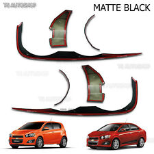 Matte Black Front Head Lamp Cover Fit Chevrolet Sonic 4d 5Dr Sedan Aveo 2012-On