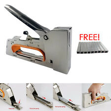 Heavy Duty Tacker Staple Gun 4/6/8mm Upholstery Stapler With 2500 x Staples Free