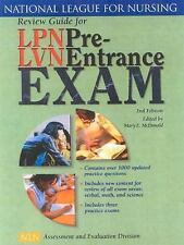 Review Guide For Lpn/Lvn Pre Entrance Exam by Mary E McDonald