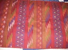 Hand Woven by Maya Tzotzil on Backstrap loom embroidered fabric Zinacatan Mexico