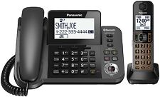 Panasonic Kx-tgf380m Bluetooth Cordless Phone - Silver, Black - Corded/cordless