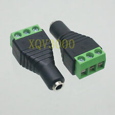 2pcs Adapter converter 3.5mm female jack stereo to AV Screw Video Balum Terminal