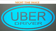 **REFLECTIVE** UBER DRIVER OVAL SIGN vinyl car sign Rideshare//taxi/drivers/LYFT