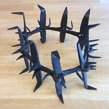 Rare Early Primitive Spiked Bear / Wolf Hunting Dog Collar - Blacksmith Forged