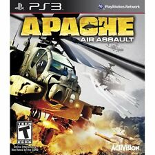 Apache: Air Assault For PlayStation 3 PS3 Flight With Manual And Case 2E