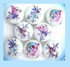 8  MYSTICAL FAIRY GIRLS DRESSER DRAWER KNOBS   MADE AS ORDERED