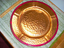 """12"""" Hammered Copper Charger Plate with 13"""" Decorative Purple """"Coaster"""""""