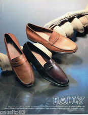 PUBLICITE ADVERTISING 016  1985  Bally  chaussures mocassins homme