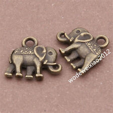 20pc retro bronze animal Elephant Pendant Charm Beads accessories wholesalePL497