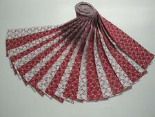 """Jelly Roll-Red and White Novelty Print by Choice Fabrics-20-2-1/2"""" x 43"""" Strips"""