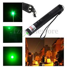 Professional Green Laser Light Pointer Pen Aerometal Beam 18650 With Keys