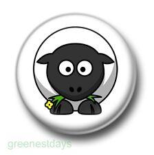 Cute Cartoon Sheep 1 Inch / 25mm Pin Button Badge Baa Farmyard Animals Kitsch