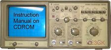 Gould OS300 20Mhz Dual Trace Oscilloscope Instruction Manual * CDROM * PDF
