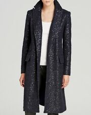 NEW Diane Von Furstenberg Dietrich Sequined Tweed Coat Sz. 6