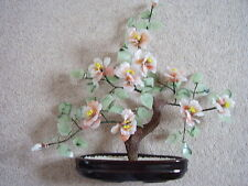 Chinese bonsai big glass flower tree, with 9 big flowers