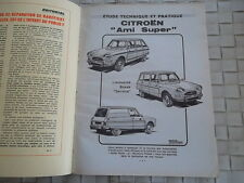 REVUE TECHNIQUE CITROEN AMI SUPER LIMOUSINE BREAK SERVICE (Fourgonnette)