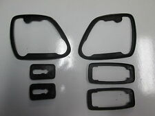 PORSCHE 924S DOOR HANDLE AND MIRROR SEALS  ALL 6 PIECES NEW 86 TO 88 NEW GENUINE
