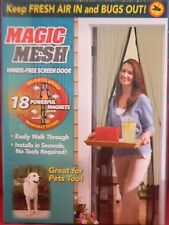 New Magic Mesh Hands-Free Screen Door with magnets AS SEEN ON TV   RETAIL BOX