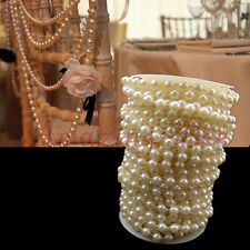 66ft 20m Wedding Chair Table Decoration Ivory 8mm Plastic Pearl Beaded Garland