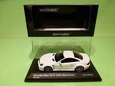 MINICHAMPS 03822 MERCEDES BENZ  SL65 AMG BLACK SERIES R230 -WHITE MATT 1:43 NMIB