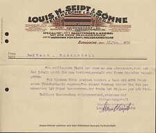 EISENZECHE ERZG, Brief 1930, Maschinen f. Holzbearbeitung Louis H. Seipt & Söhne