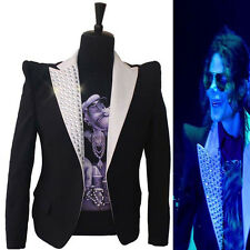 Rare Classic MJ Michael Jackson This is it Jacket Informal Crystal Suit Blazer
