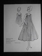 """Illustration vintage de mode """"Lingerie Dior - Chemise de nuit 492"""""""