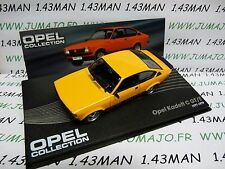 OPE100 voiture 1/43 IXO OPEL collection : KADETT C rallye GT/E 1977/1979 orange