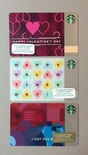 (3) Starbucks VALENTINES DAY Gift Cards (Set of 3) (1)2014 & (2)2015 (NEW)
